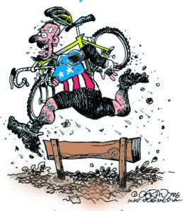 My cartoon for the 1997 U.S. cyclo-cross nationals